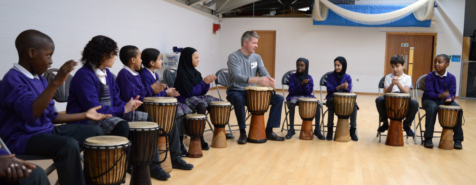 Sounds of Africa come to school with drumming workshop